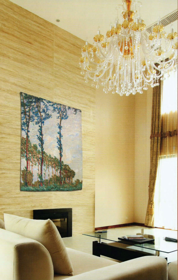 Claude Monet tapestry wallhanging
