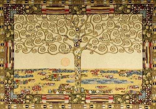 Klimt Tree of Life tapestry - Art Nouveau tapestries