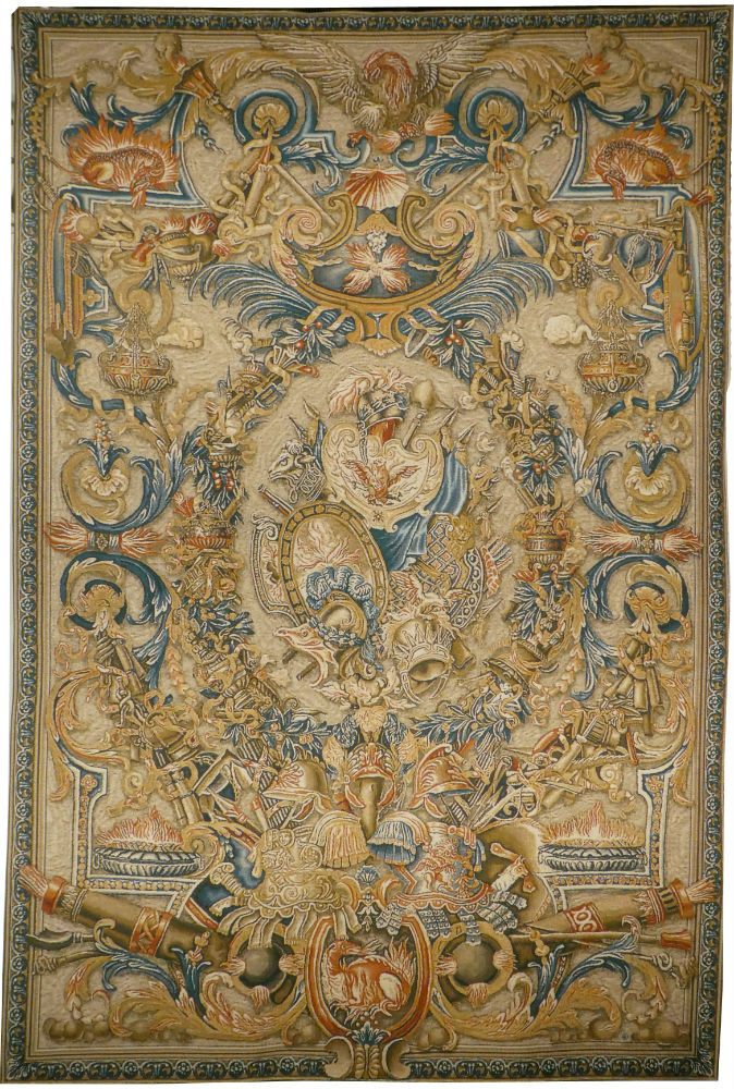 Le Feu tapestry - Palace of Versailles Belgian wall-hanging
