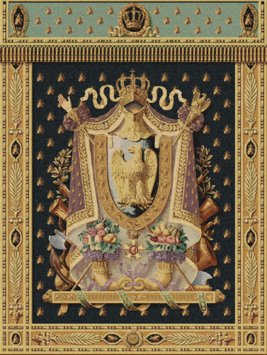 Emperor Napoleon Coat of Arms tapestry - elegant Belgian wall-hanging