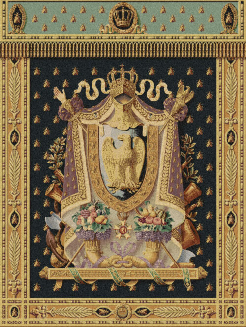 Emperor Napoleon Coat of Arms tapestry - elegant Belgian wall-hanging