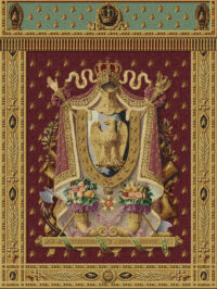 Napoleon Coat of Arms tapestry - Belgian wall hanging
