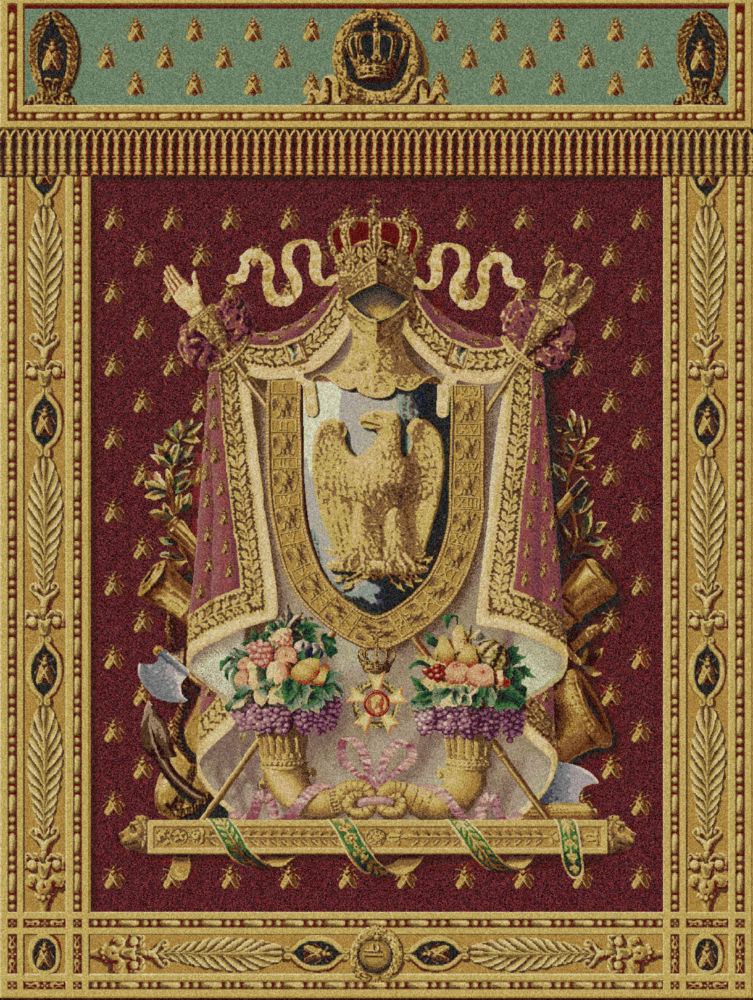 Napoleon Coat Of Arms Tapestry Bonaparte Imperial Eagle