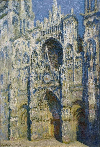 Monet Rouen Cathedral - Belgian tapestry wall hanging