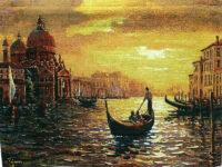 Santa Maria Sunset tapestry - Venice wall-hanging