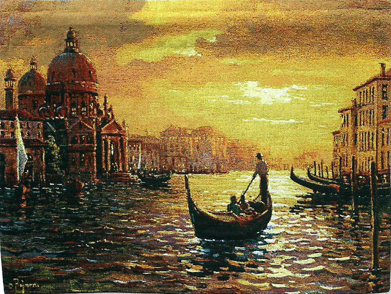 Santa Maria Sunset tapestry - Venice wall-hanging