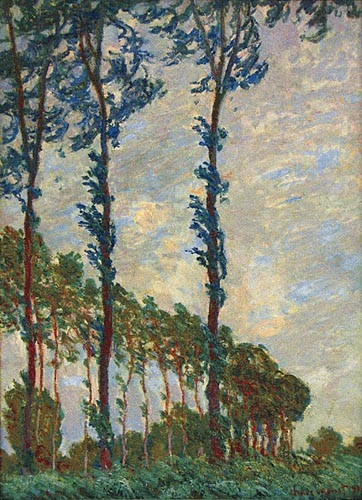 Three Poplar Trees - Claude Monet tapestry wall-hanging