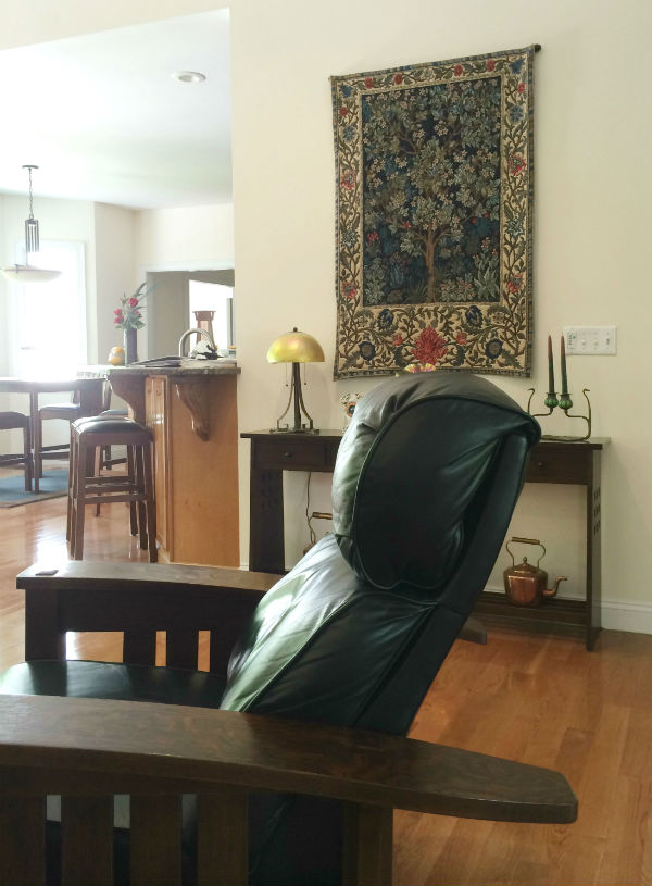 Tree of Life tapestry - with William Morris chair