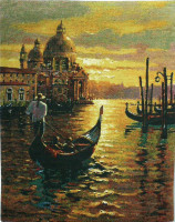 Venetian Sunset tapestry - Venice wall-hanging
