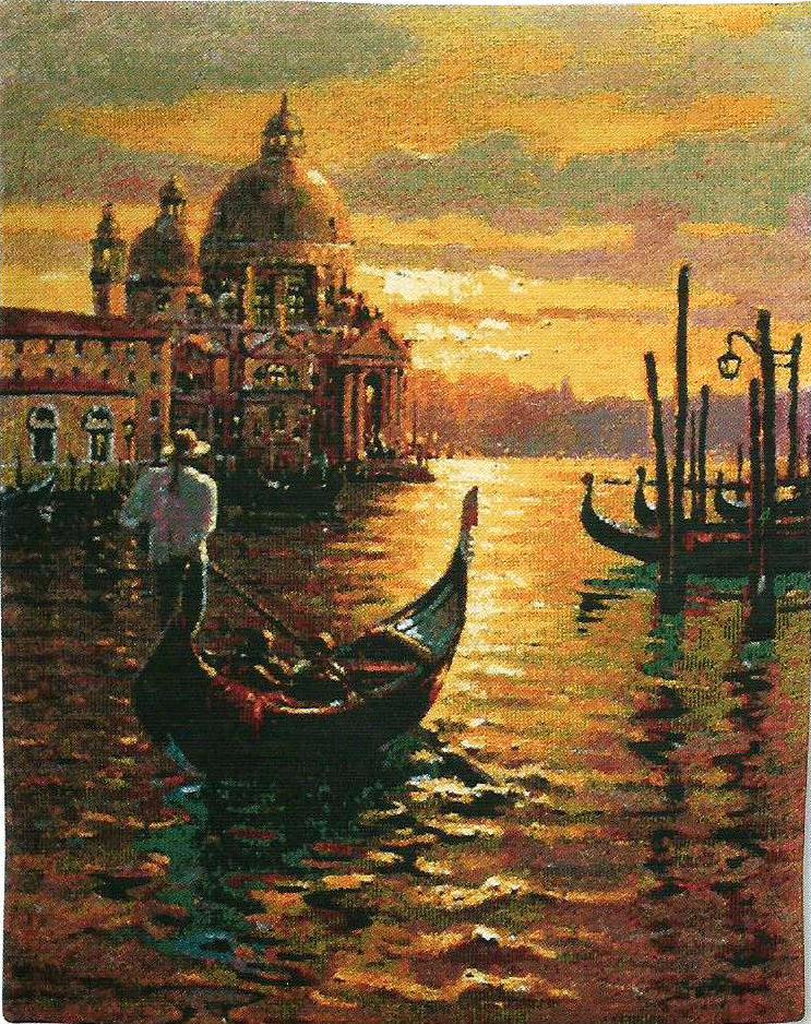 Venetian Sunset tapestry - Venice wall-hanging - Bob Pejman