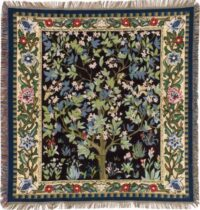 William Morris Tree of Life throw - Arbre de Vie - French throws