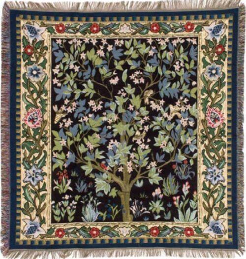 William Morris Tree of Life throw - Arbre de Vie - French throws