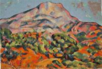 Paul Cezanne Mont Sainte Victoire - Post-Impressionist wall-hanging