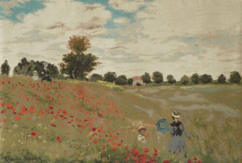 Coquelots by Monet - Camille and their son Jean in the poppy fields