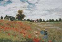 Coquelots by Monet - Camille and their Jean in the poppy fields