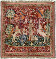 Lady with the Unicorn throw - French throw or tablecloth