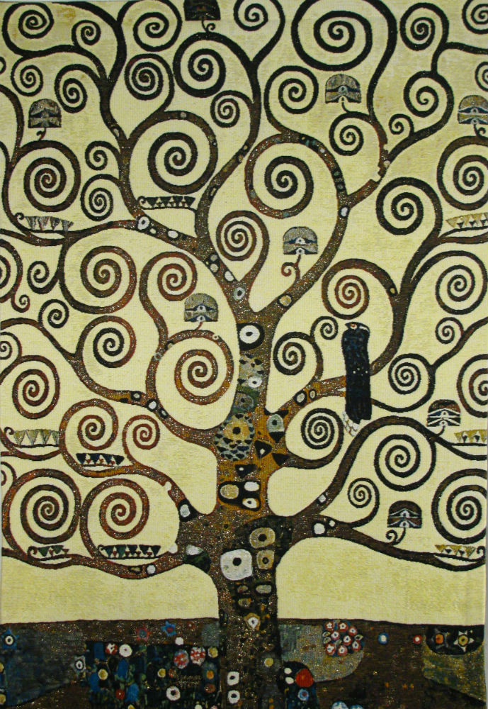 Lebensbaum Tree tapestry - Gustav Klimt - Tree of Life tapestries