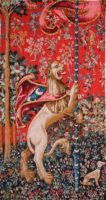 Majestic Lion tapestry - Lady with the Unicorn wall tapestries