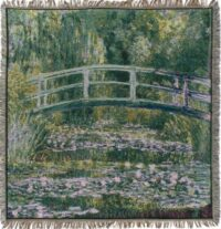 Monet Pont de Giverny throw - French decorative tablecloth