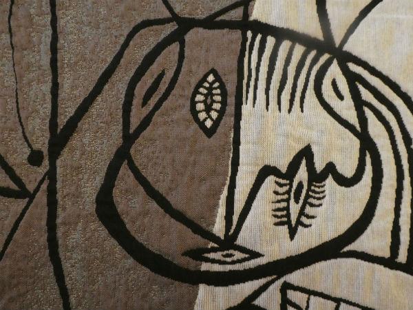Le Peintre et son Modèle tapestry wall-hanging detail
