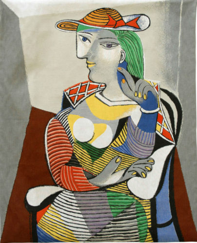 Marie-Therese Portrait by Picasso - French tapestry wall-hanging