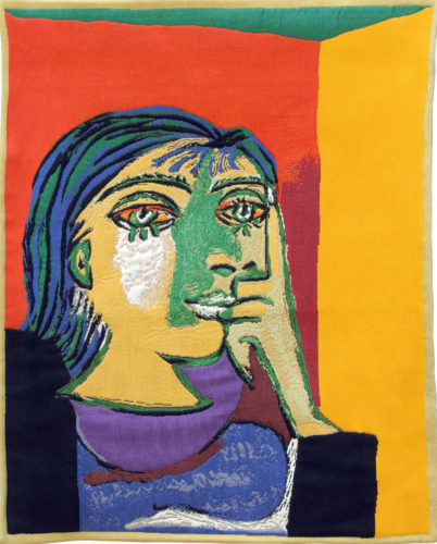 Portrait of Dora Maar - Pablo Picasso tapestry wall-hanging