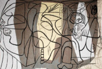 Picasso Painter and his Model 1926 - modern art tapestry wall-hanging