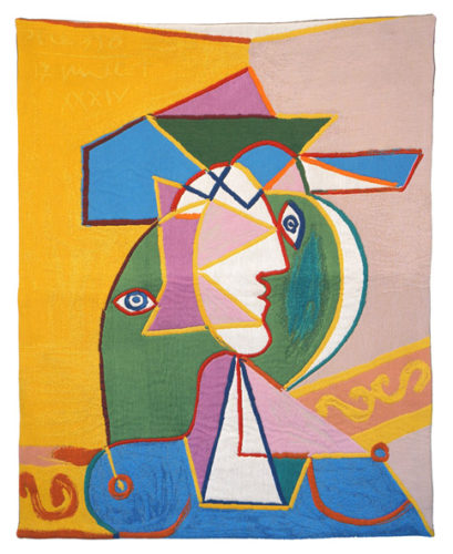 Pablo Picasso Woman in a Hat - French wall tapestry