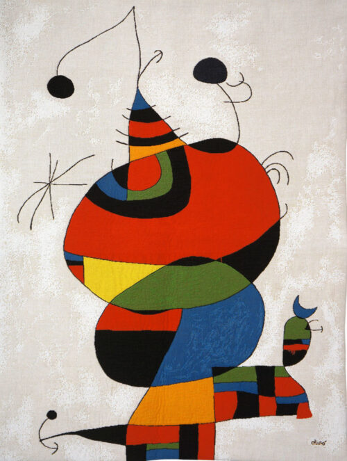 Woman, Bird and Star - Joan Miro French wall tapestry
