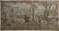 Medieval Brussels wall tapestry - fine French tapestries