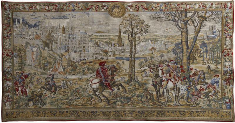 Medieval Brussels wall tapestry - Emperor Charles V