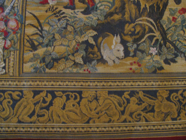 Medieval Brussels tapestry detail - close-up of this magnificent wall-hanging