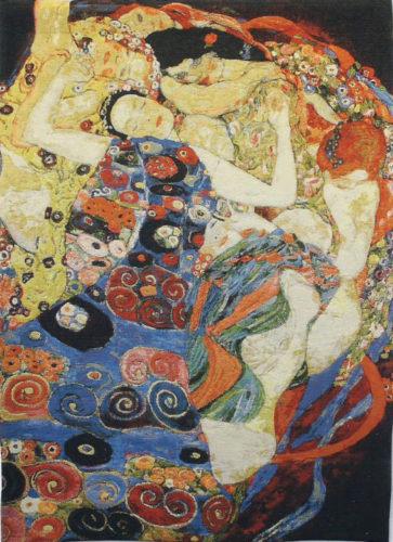 Klimt Virgin tapestry - The Maiden Art Nouveau wall-hanging