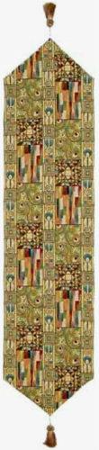 Gustav Klimt table runner - The Kiss tapestry details