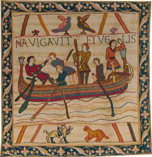 Bayeux Tapestry Saxon Boat - King Harold wall-hanging