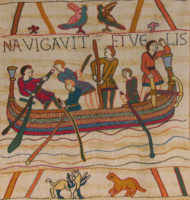 Bayeux Tapestry Saxon ship wallhanging - King Harold boat
