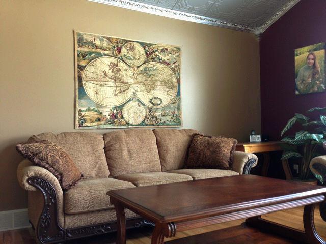 Blaeu Planisfero map tapestry hanging