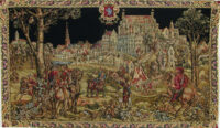 Medieval Bruxelles tapestry - Belgian wall-hanging on sale