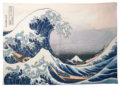 The Great Wave off Kanagawa tapestry - La Vague d'Hokusai