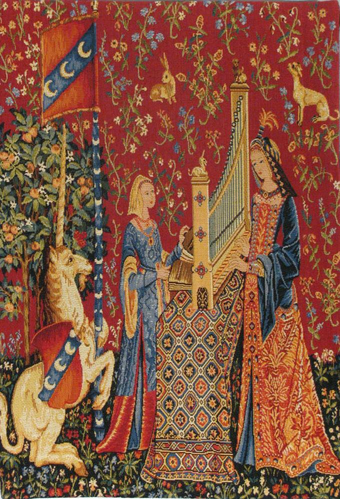 Hearing small tapestry - Tenture de la Dame à la licorne