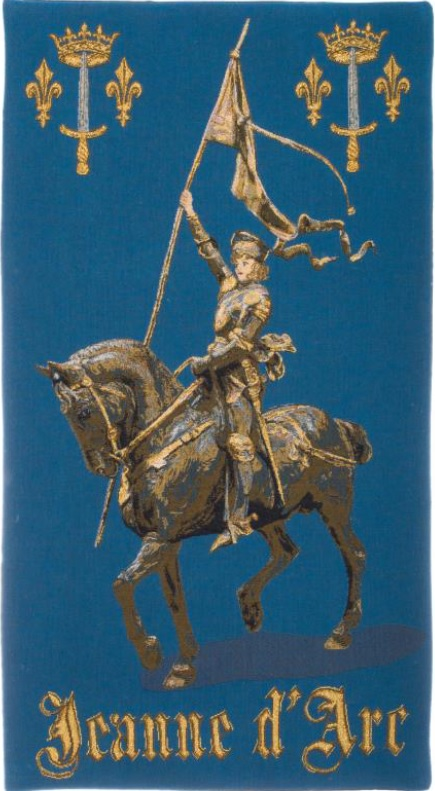 Joan of Arc tapestry - Jeanne d'Arc French wallhanging