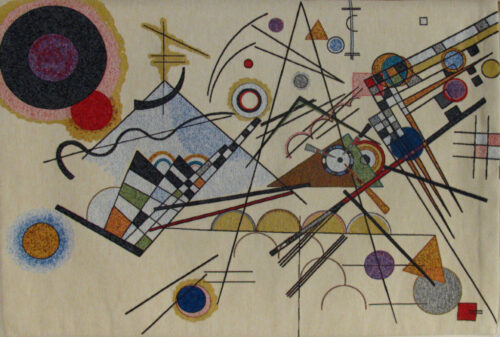 Kandinsky Composition 8 - Belgian wall tapestry art