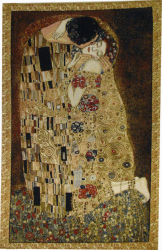 Le Baisir tapestry - The Kiss by Gustav Klimt - Belgian wall-hanging