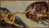 The Creation of Adam tapestry - Michelangelo's Sistine Chapel