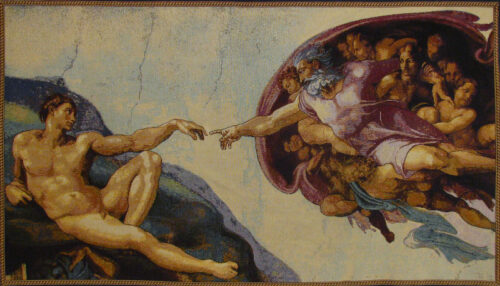 Creation of Adam tapestry - Michelangelo's Sistine Chapel