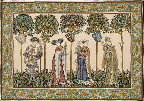 La Manta with four figures tapestry - Nine Worthies tapestries