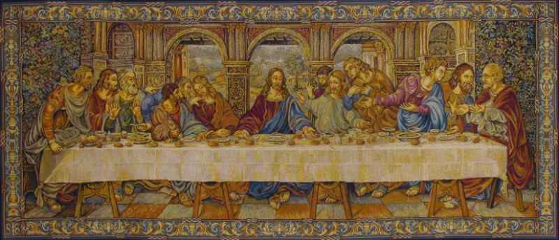 Leonardo da Vinci fresco of The Last supper - an Italian tapestry