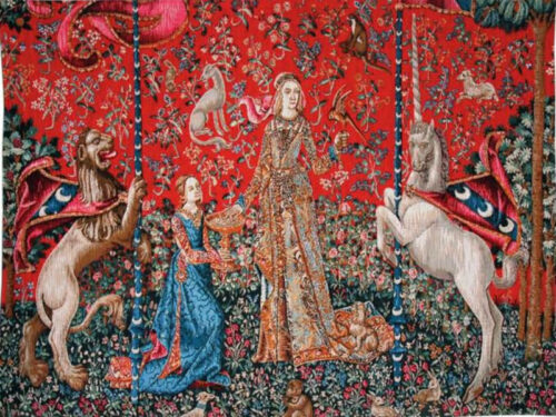 Le Gout tapestry wall-hanging - Lady with the Unicorn tapestries
