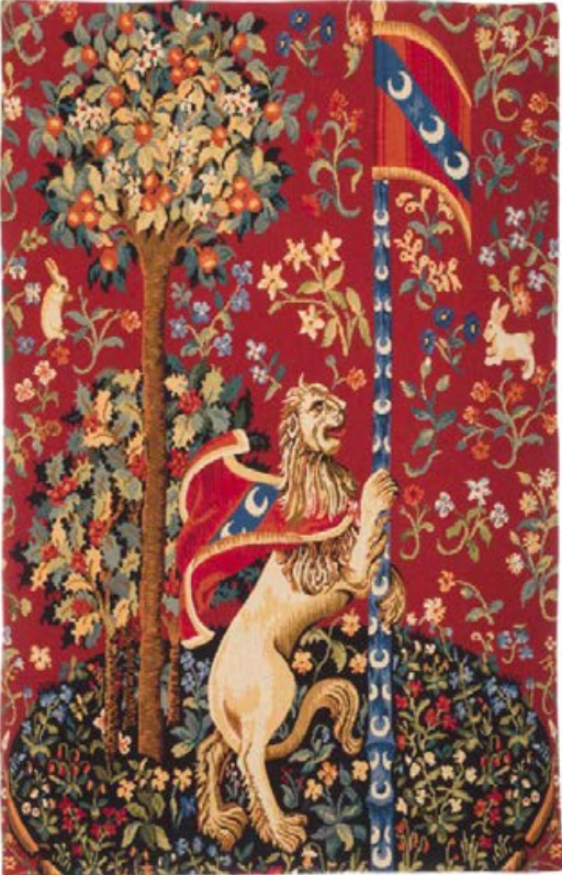 The Lion tapestry wallhanging - French medieval tapestry
