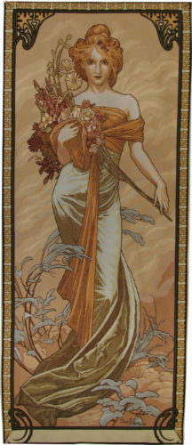 Mucha Printemps tapestry - Art Nouveau tapestries